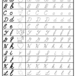 Free Cursive Uppercase And Lowercase Letter Tracing with regard to Cursive Letters Tracing Sheets