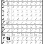 Free Cursive Uppercase Letter Tracing Worksheets for Tracing Cursive Alphabet Letters