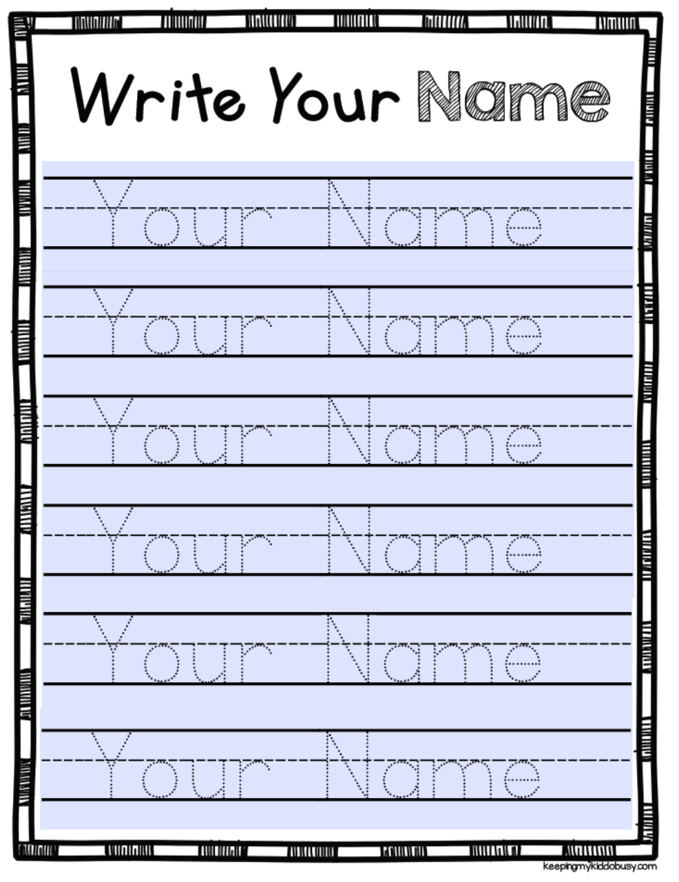 Free Editable Name Tracing Activity - Type Student Names And with Tracing Letters Editable
