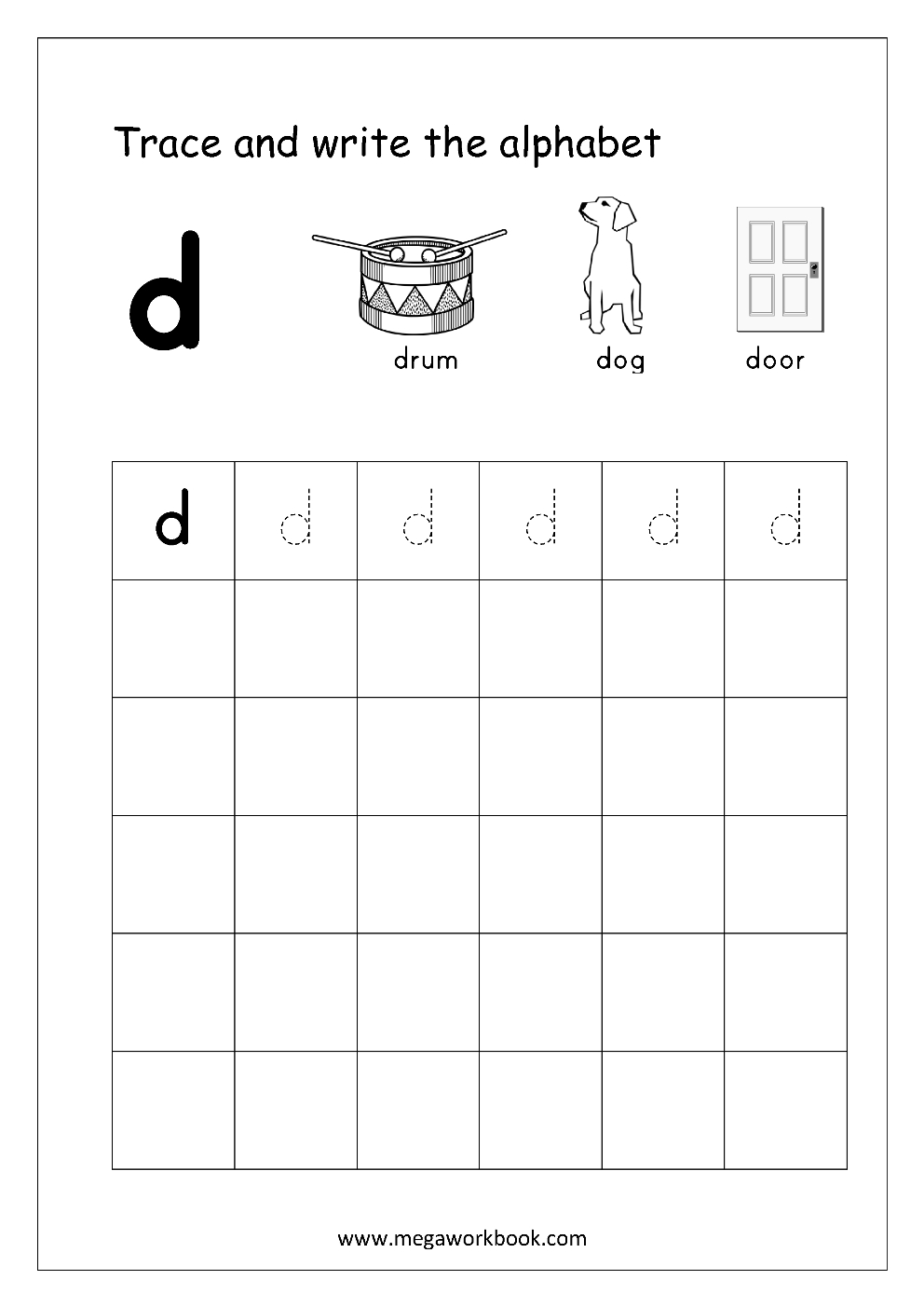 Free English Worksheets - Alphabet Writing (Small Letters within Small Letters Tracing Sheets