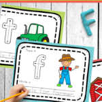 Free Farm Alphabet Mats | 123 Homeschool 4 Me throughout Trace With Me Tracing Letters