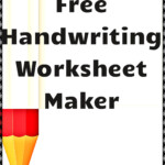 Free Handwriting Worksheet Maker! | Handwriting Worksheet within Tracing Letters Maker