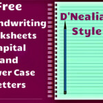 Free Handwriting Worksheets! Includes Worksheets For All for D'nealian Alphabet Tracing Worksheets