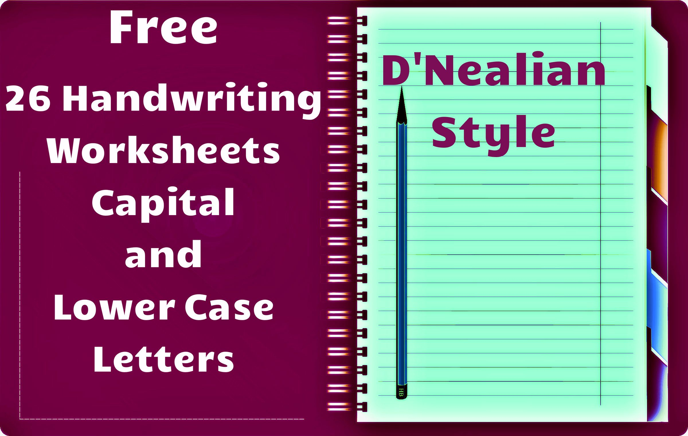Free Handwriting Worksheets! Includes Worksheets For All for D'nealian Letter Tracing Worksheets