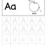 Free Letter A Tracing Worksheet intended for Dot To Dot Letters For Tracing