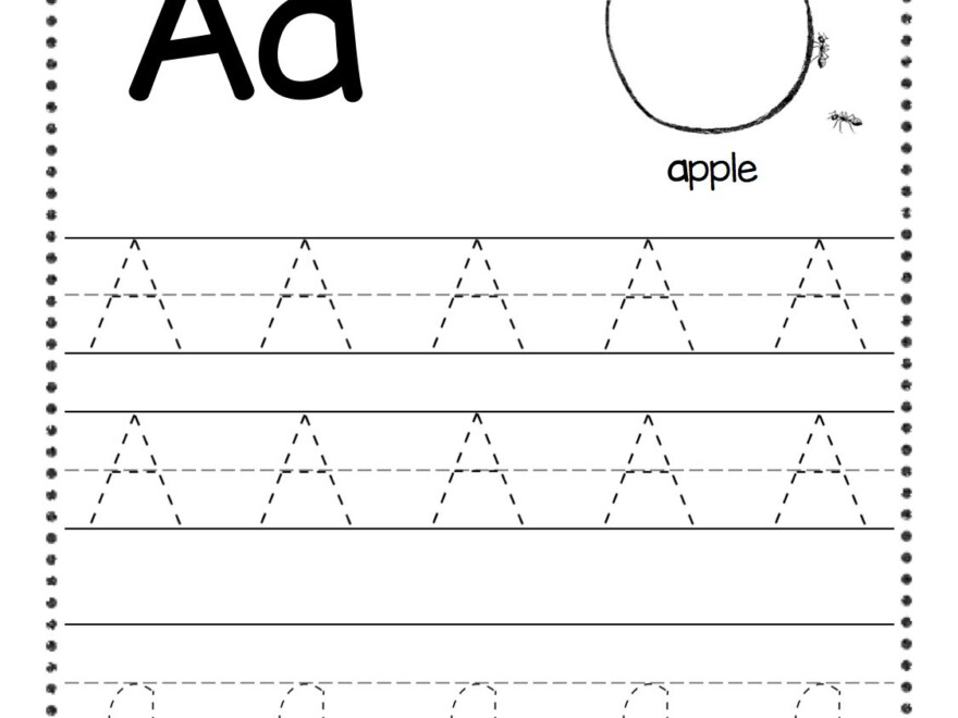 Free Letter A Tracing Worksheets | Alphabet Worksheets for Tracing Letters Download