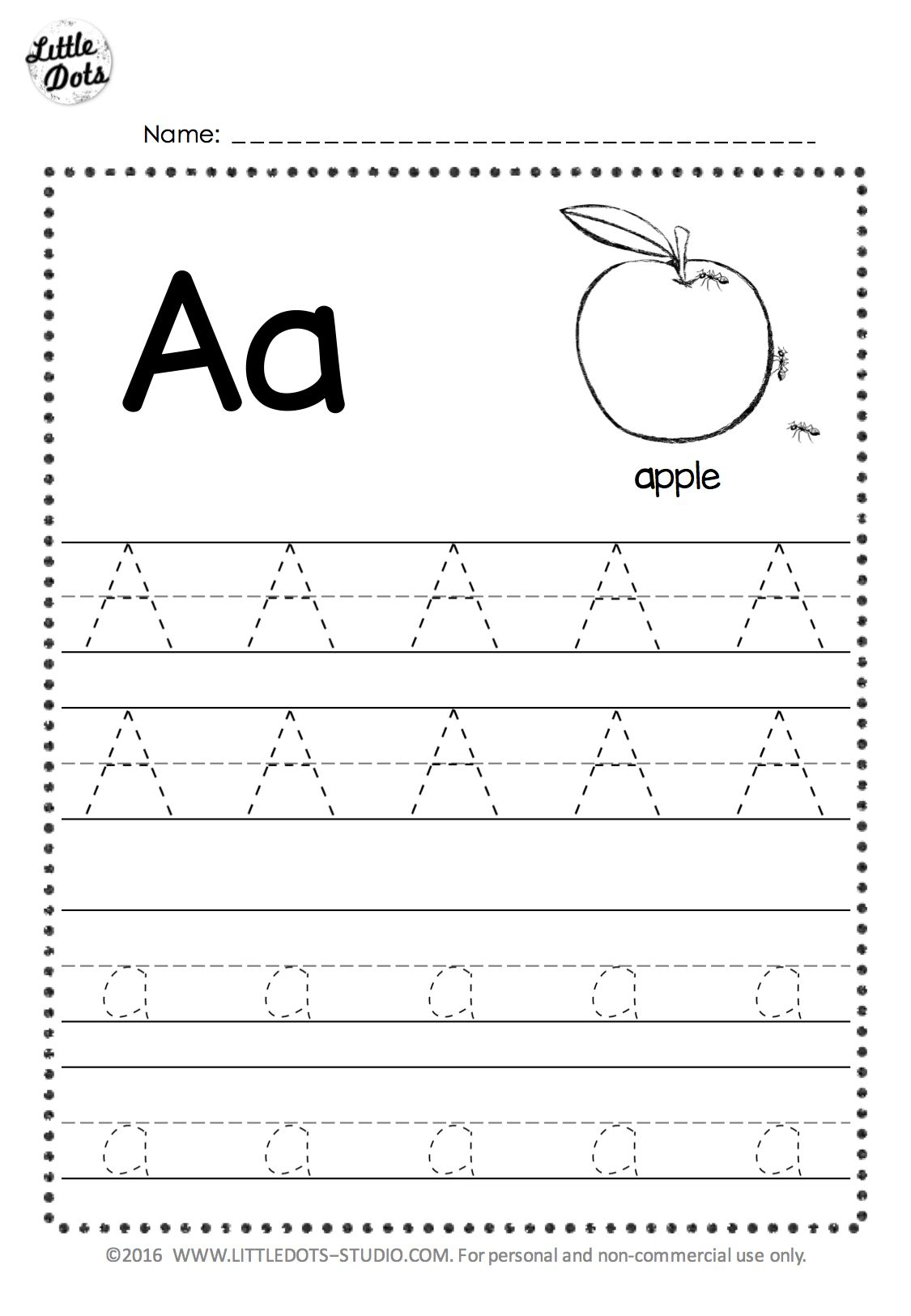 Free Letter A Tracing Worksheets | Alphabet Worksheets with Download Tracing Letters