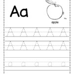 Free Letter A Tracing Worksheets | Alphabet Worksheets with Tracing Letters Font Free Download