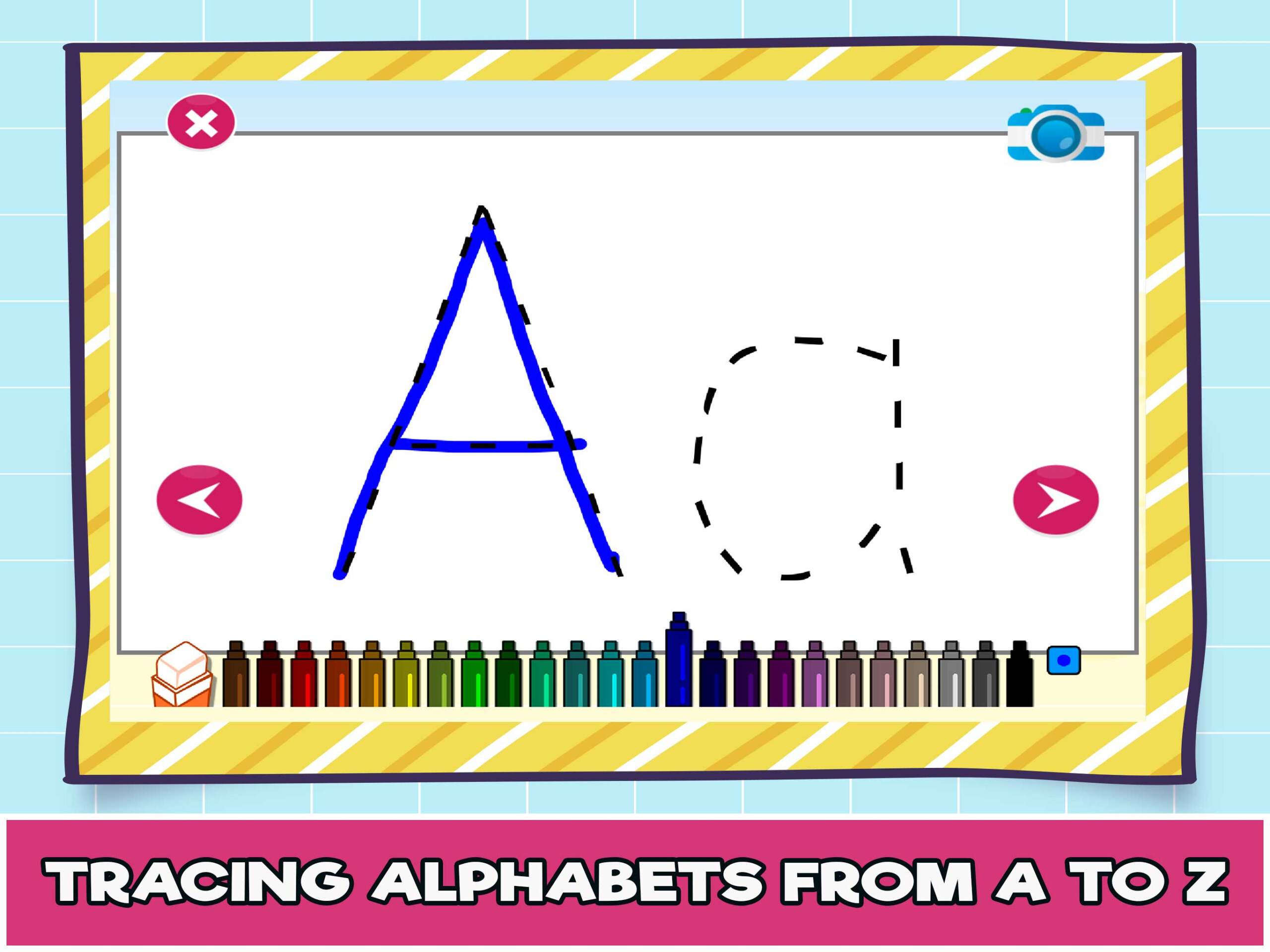 Free Online Alphabet Tracing Game For Kids - The Learning Apps within Interactive Tracing Letters Online