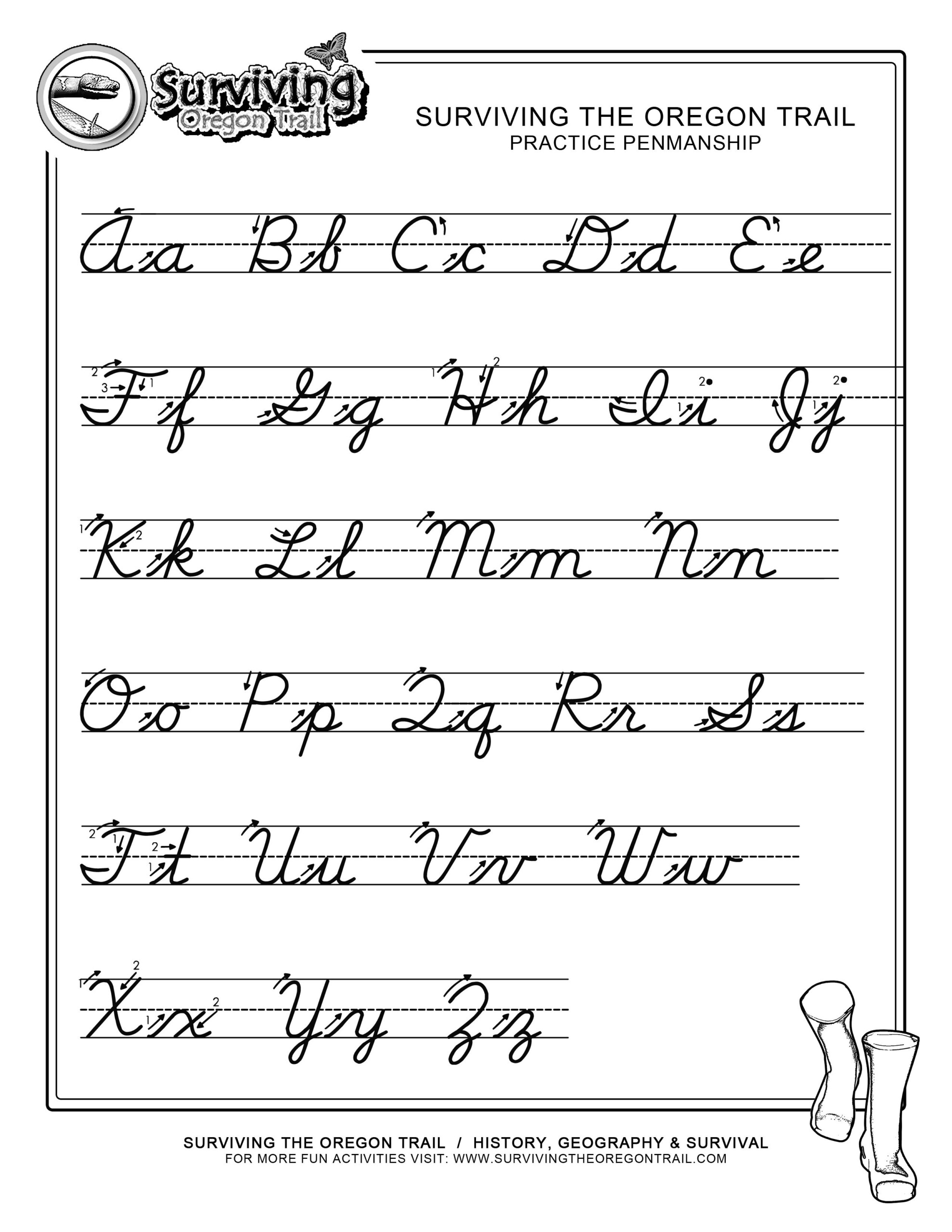 Free Print Alphabet Letter Worksheets |  – Free Abc's inside Abc Tracing Cursive Letters