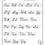 Free Print Alphabet Letter Worksheets |  – Free Abc's regarding Abcs Tracing Cursive Letters