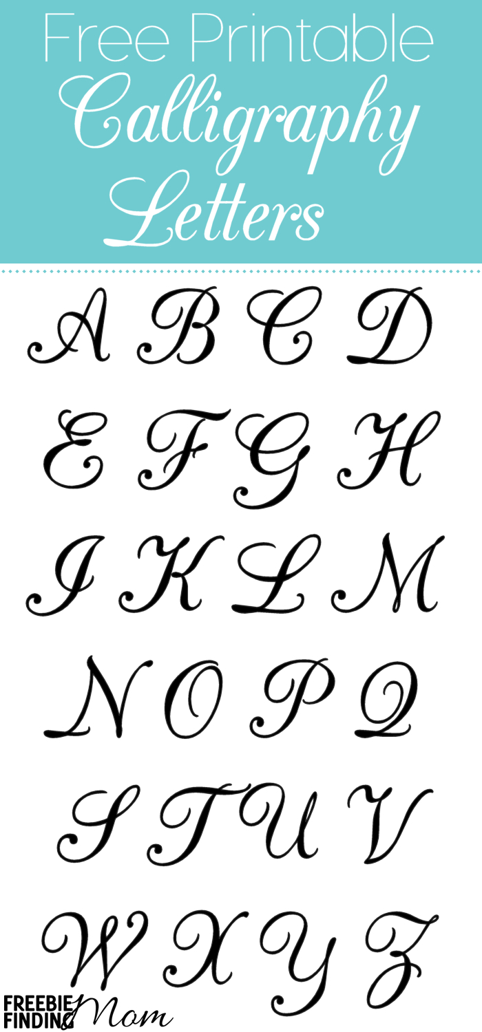 Free Printable Calligraphy Letters | Alphabet Stencils within Calligraphy Letters Tracing