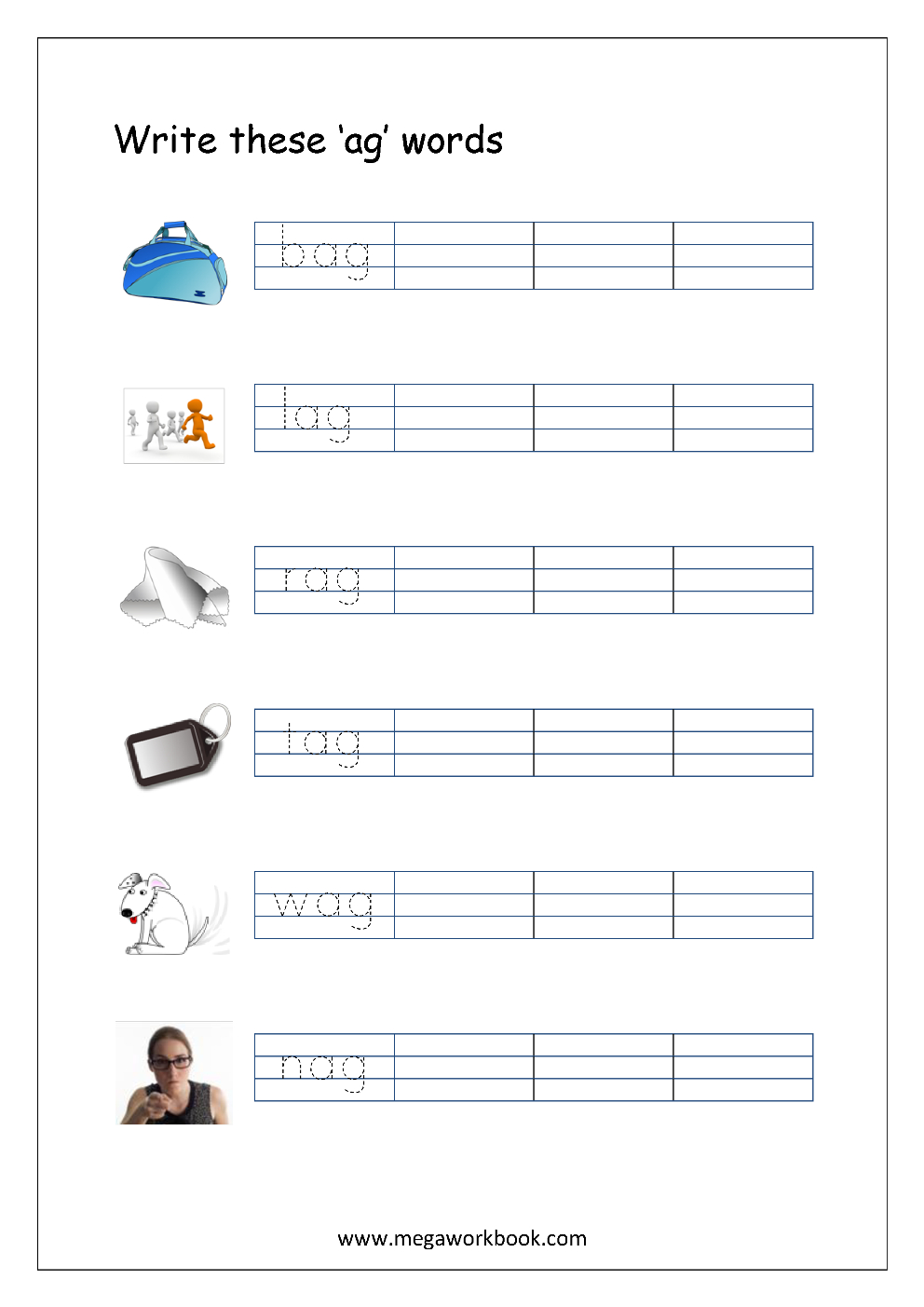 Free Printable Cvc Words Writing Worksheets For Kids - Three throughout Tracing 3 Letter Words Worksheets