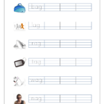 Free Printable Cvc Words Writing Worksheets For Kids - Three with Tracing Three Letter Words Worksheets