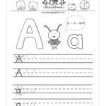 Free Printable Letter A Practice Sheet For Kids, A inside Practice Tracing Alphabet Letters