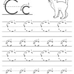 Free Printable Letter C Tracing Worksheet With Number And regarding Tracing Letters With Arrows