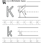 Free Printable Letter K Alphabet Learning Worksheet For intended for Tracing Letter K Worksheets
