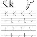 Free Printable Letter K Tracing Worksheet | Letter Tracing in Tracing Letter K Worksheets