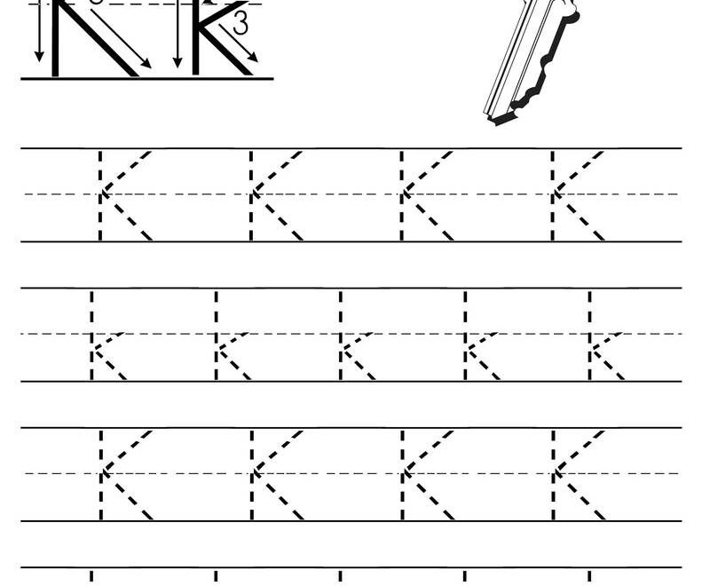 Free Printable Letter K Tracing Worksheet | Letter Tracing in Tracing Letter K Worksheets