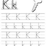 Free Printable Letter K Tracing Worksheet | Letter Tracing intended for Tracing Letters Printable Free