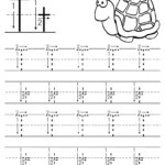 Free Printable Letter T Tracing Worksheet With Number And inside Letter Tracing Worksheets With Arrows