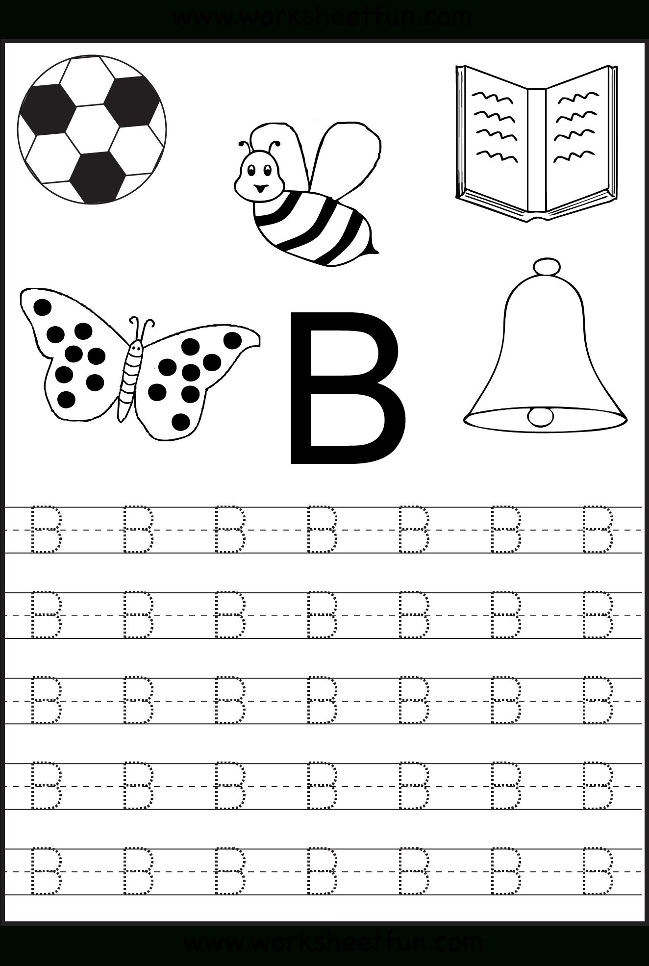 Free Printable Letter Tracing Worksheets For Kindergarten regarding Free Printable Alphabet Tracing Letters