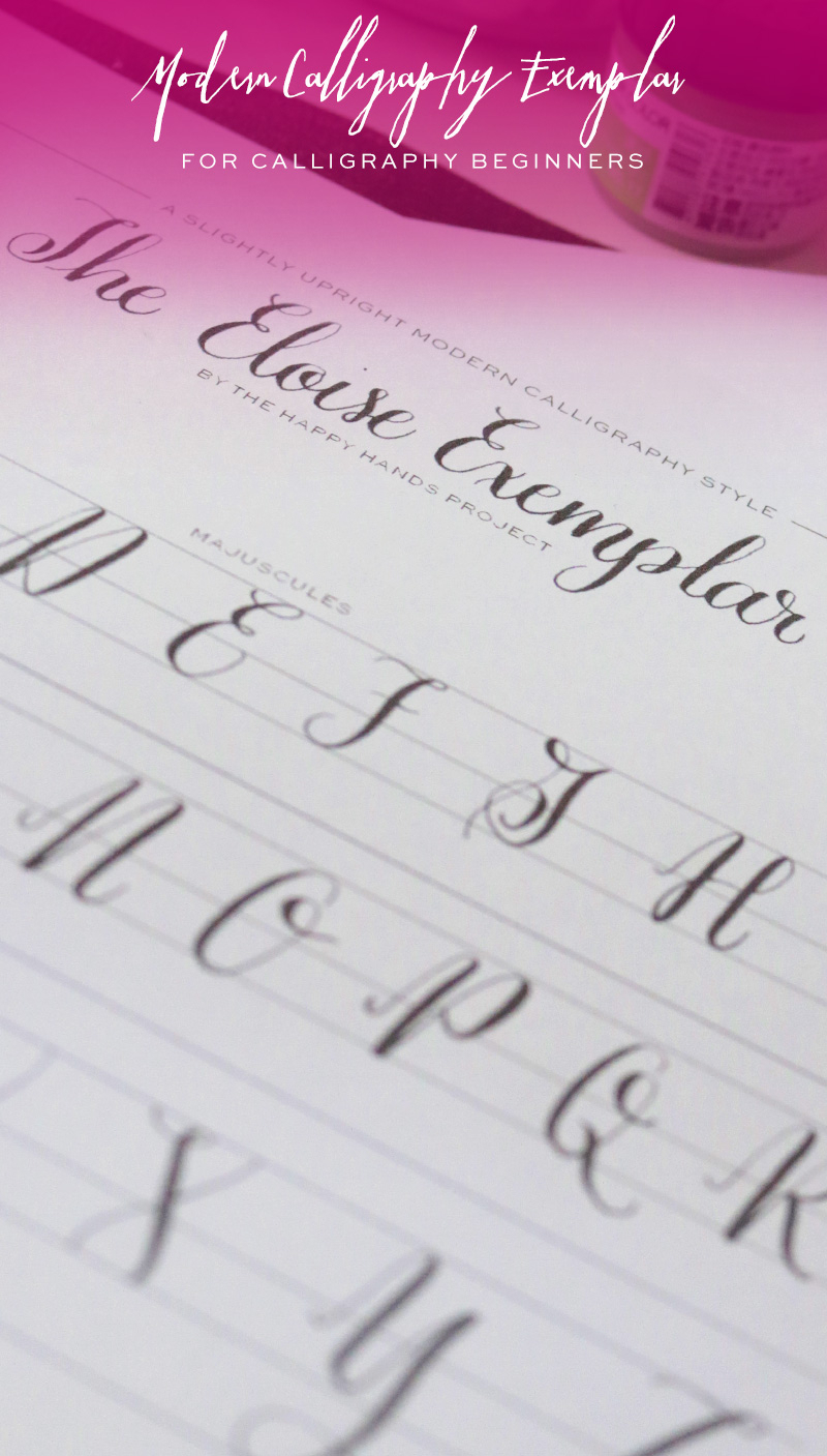 Free Printable Modern Calligraphy Alphabet | Happy Hands Project throughout Calligraphy Letters Tracing