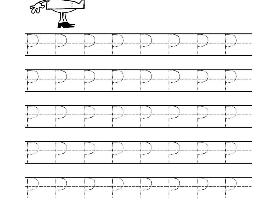 Free Printable Tracing Letter P Worksheets For Preschool throughout Tracing Letter P Worksheets