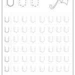 Free Printable Tracing Letter U Worksheets Preschool for Tracing Letter Worksheets Preschool Free