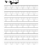 Free Printable Tracing Letter V Worksheets For Preschool within Tracing Letter V Worksheets