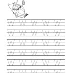 Free Printable Tracing Letter W Worksheets For Preschool in Tracing Letter W Worksheets