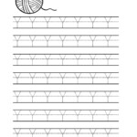 Free Printable Tracing Letter Y Worksheets For Preschool pertaining to Trace Letter Y Worksheets