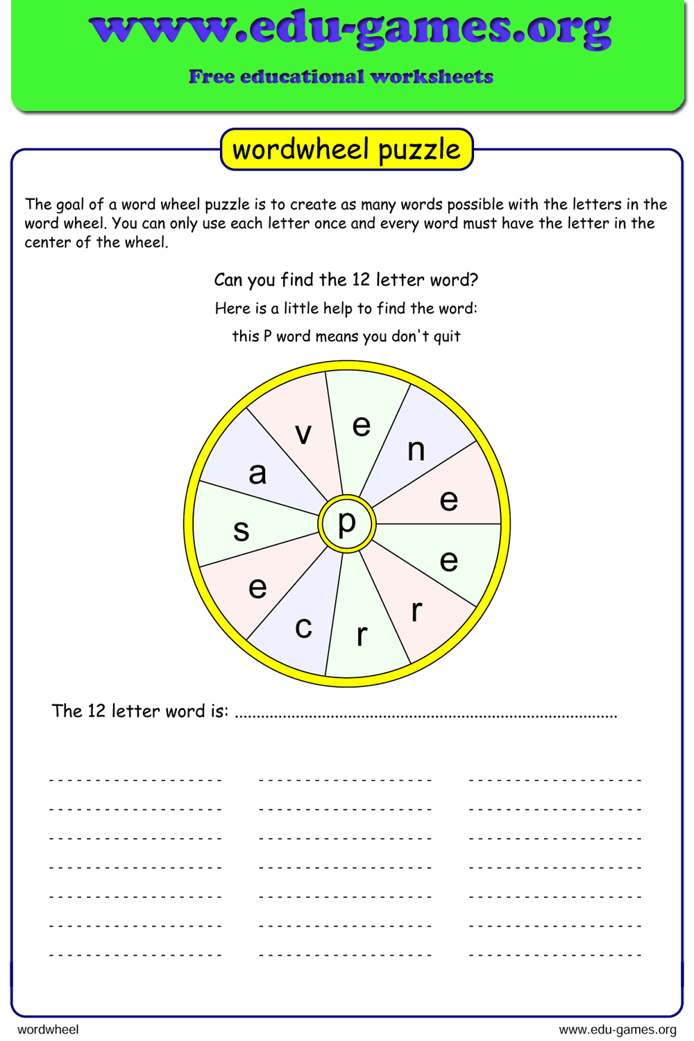 Free Printable Word Wheel Maker, Includes A List Of Words regarding Tracing Letters Worksheet Maker