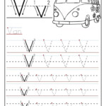 Free Printable Worksheet Letter V For Your Child To Learn intended for Tracing Letter V Worksheets