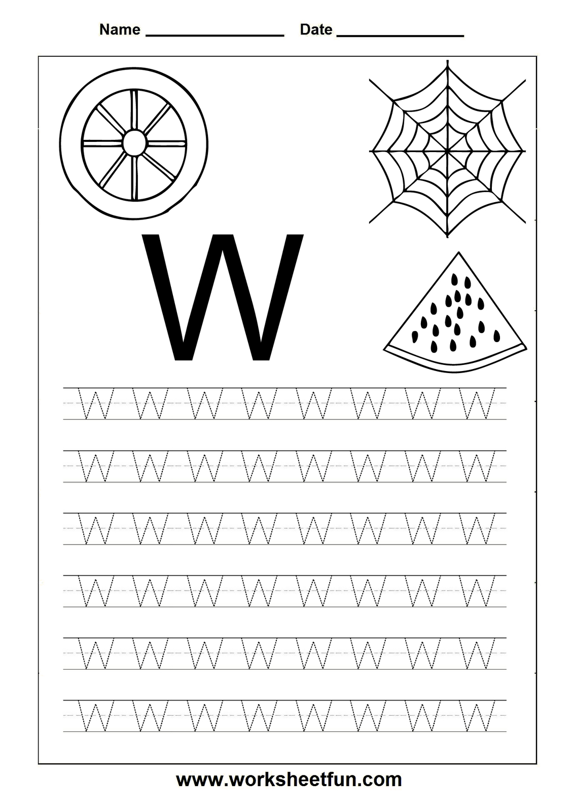 Free Printable Worksheets: Letter Tracing Worksheets For for Tracing Letters Words Worksheets