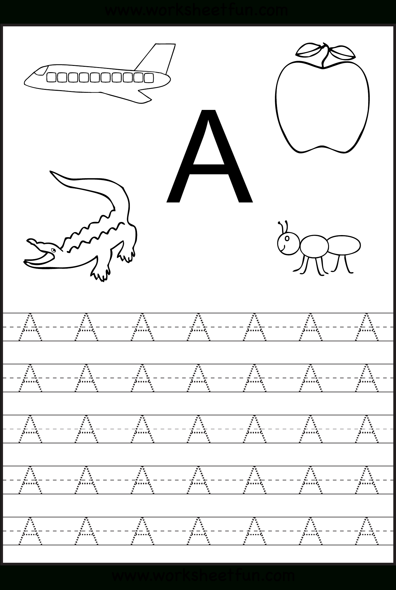 Free Printable Worksheets: Letter Tracing Worksheets For intended for Preschool Dotted Letters For Tracing