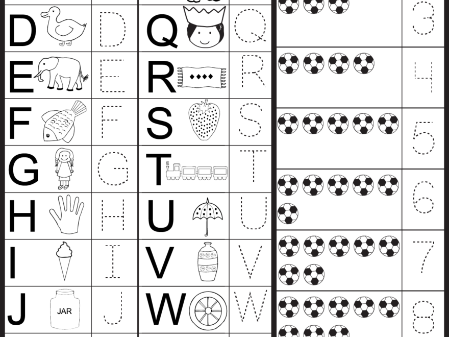 Free Tracing Ketters And Numbers | Letters And Numbers for Tracing Letters And Numbers Printable