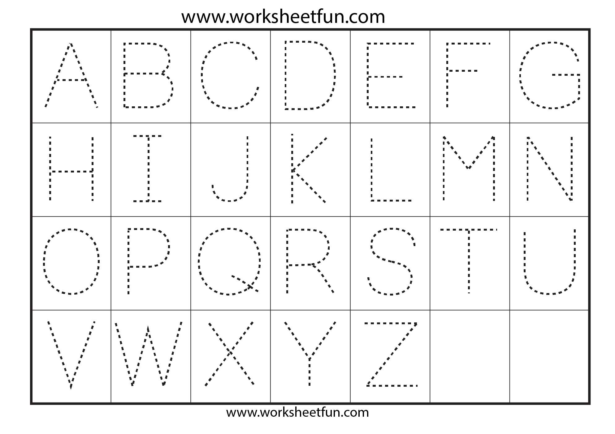 Free Tracing Letters Worksheet | Printable Worksheets And regarding Dot Letters For Tracing Free
