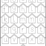Free Tracing Letters Worksheet | Printable Worksheets And throughout Tracing Small Letters Az
