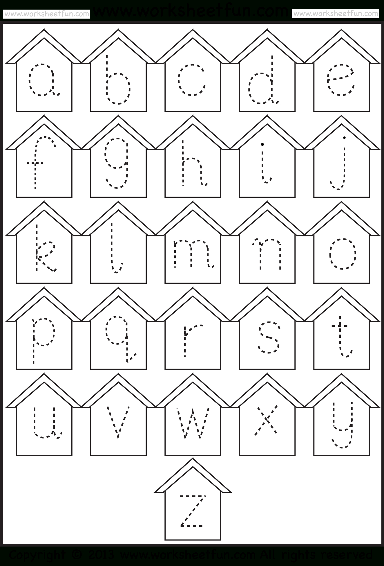 Free Tracing Letters Worksheet | Printable Worksheets And with Small Alphabet Letters Tracing Worksheets
