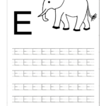 Free Uppercase Letter E Coloring Pages | Letter Worksheets pertaining to E Letter Tracing Worksheet