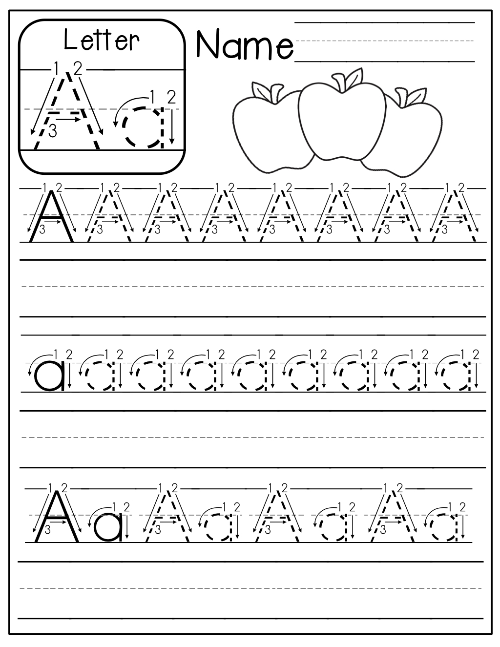 Free…free…free Handwriting Tracing Sheets! | Kindergarten within Tracing Letters Handwriting Worksheets