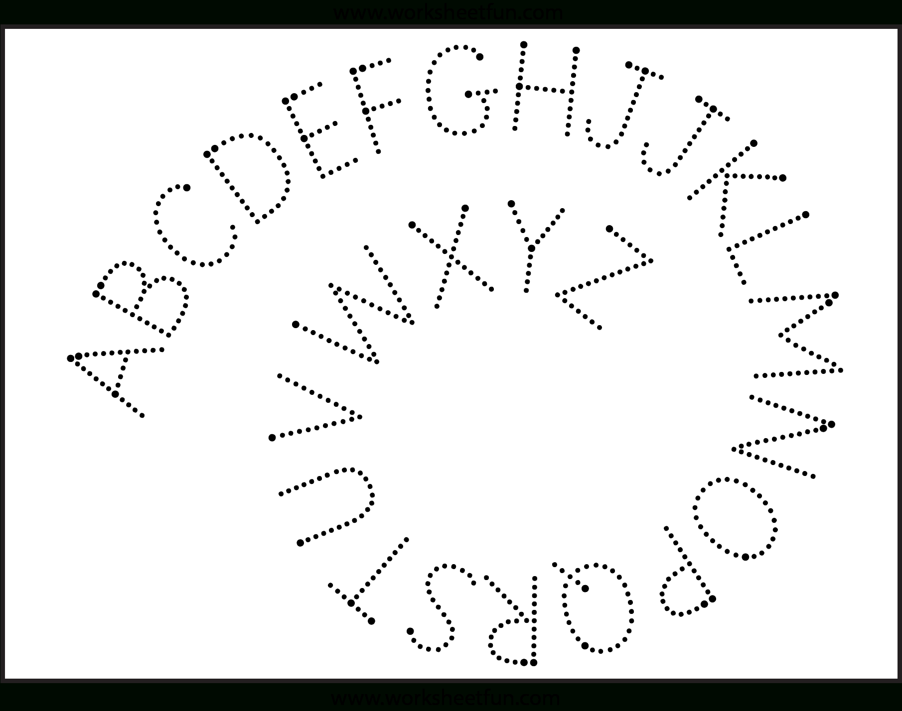 Fun Letter Tracing Worksheets | Letter Tracing Worksheets in Tracing Letters Cursive