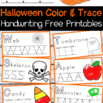 Halloween Handwriting And Coloring Free Printables with regard to Halloween Tracing Letters