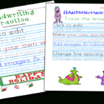 Handwriting Practice And Copywork Worksheets Maker regarding Tracing Letters Maker