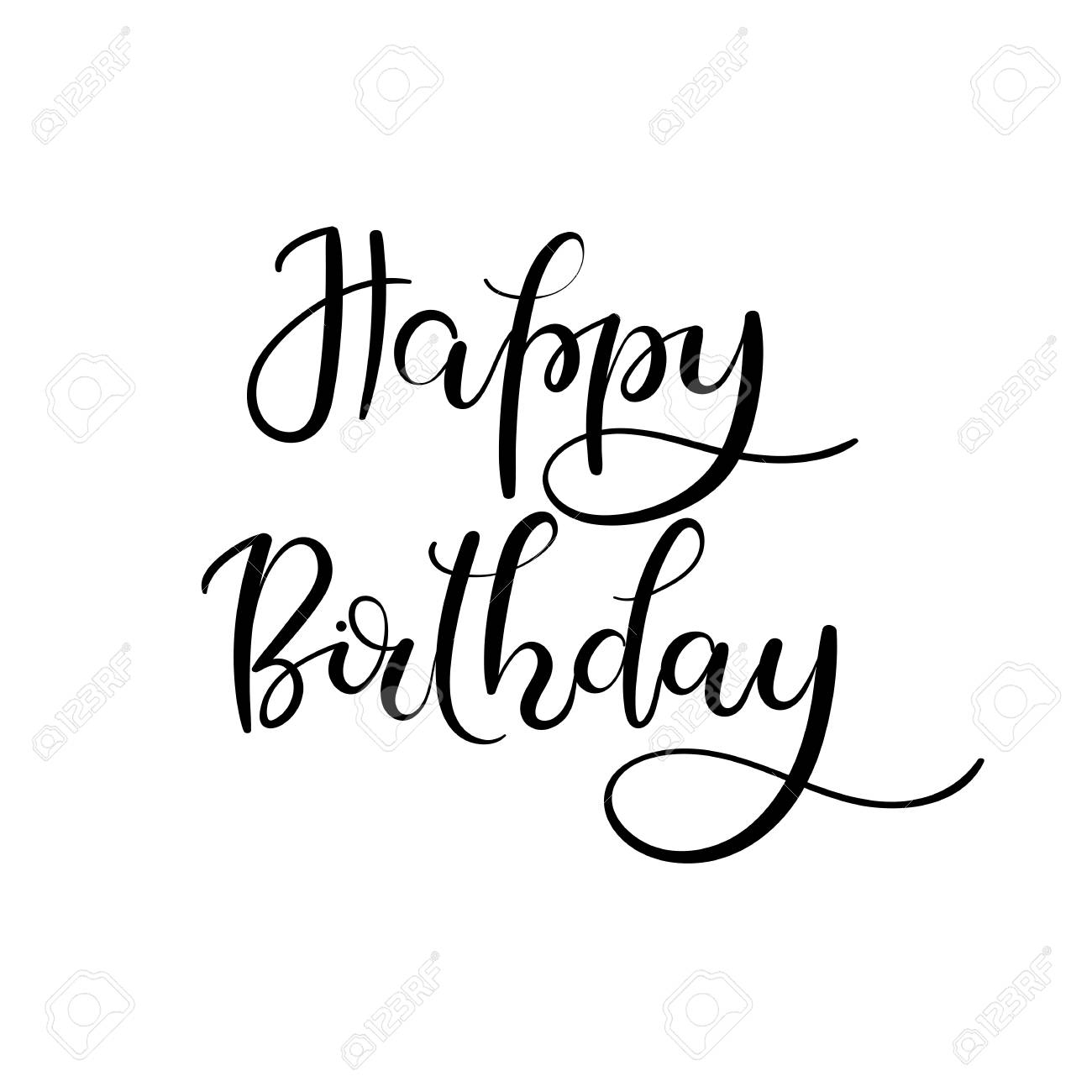 Happy Birthday Calligraphy. ⛔ Happy Birthday Calligraphy for Happy Birthday Tracing Letters