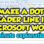 How To Create A Dot Leader Line In Microsoft Word 2010 - Dot Leader Line  Word 2010 / 2007 Tutorial within How To Make Tracing Letters In Microsoft Word 2010