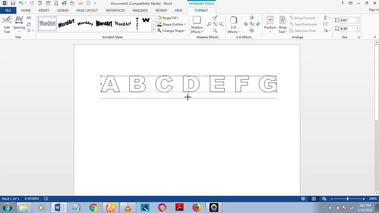 How To Download Fonts And Make Dashed/dotted Letters And for Tracing Letters Font In Microsoft Word