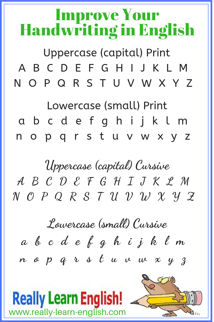 How To Improve Your Handwriting In English inside How To Create Tracing Letters