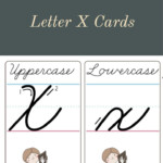 How To Make A Cursive X - Printable Cards | Cursive for Cursive Letters Tracing Guide